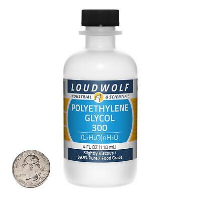 Polyethylene Glycol 300 4 Fl Oz Bottle 99.9 Food Grade Slightly Viscous