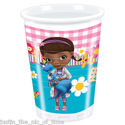 DOC MCSTUFFINS Girls Birthday Supplies Cup Tableware Party CUPS x8 ()