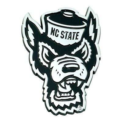 Fanmats NCAA NC State Wolfpack Chrome 3D Emblem-Car Truck RV 2-4 Day Del.