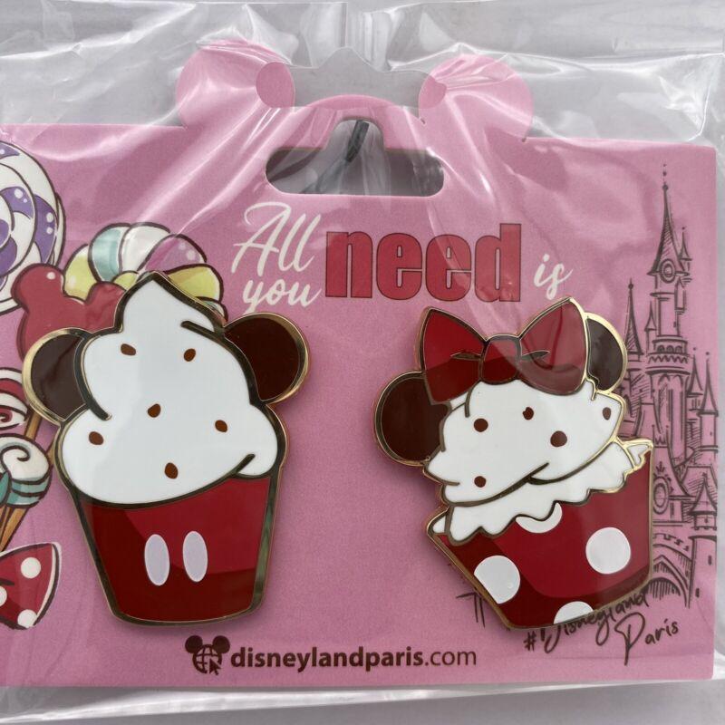 Disney Paris Pin Mickey & Minnie Mouse Cupcakes Disneyland Parks Trading Pins