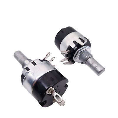 Us Stock 2pcs 4.7k Ohm B4k7 Linear Potentiometer Onoff Switch Wh137-2 Rv137-2