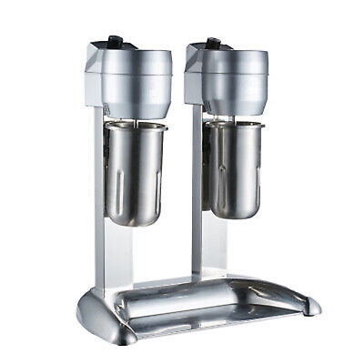 110v 300w Stainless Steel Milk Shake Machine Double Head Drink Mixer 1000ml New
