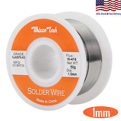 60-40 Tin Lead Rosin Core Solder Wire Soldering Sn60 Pb40 Flux .0391.0mm 50g