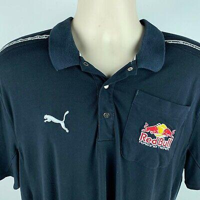 Puma Red Bull Racing Team Mens XL Polo Shirt RedBull Blue Gives You Wings