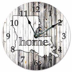 LOUISIANA RUSTIC HOME STATE CLOCK - Large 10.5 Wall Clock - 2227