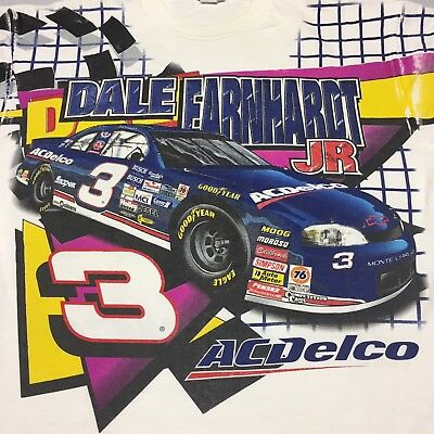 Vintage Dale Earnhardt JR XXL T-Shirt Team Car NASCAR ACDelco Racing Track Team for sale  Shipping to India
