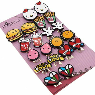 My Love Cute Cartoon Clip On Earrings Gift Set For Kids Teen