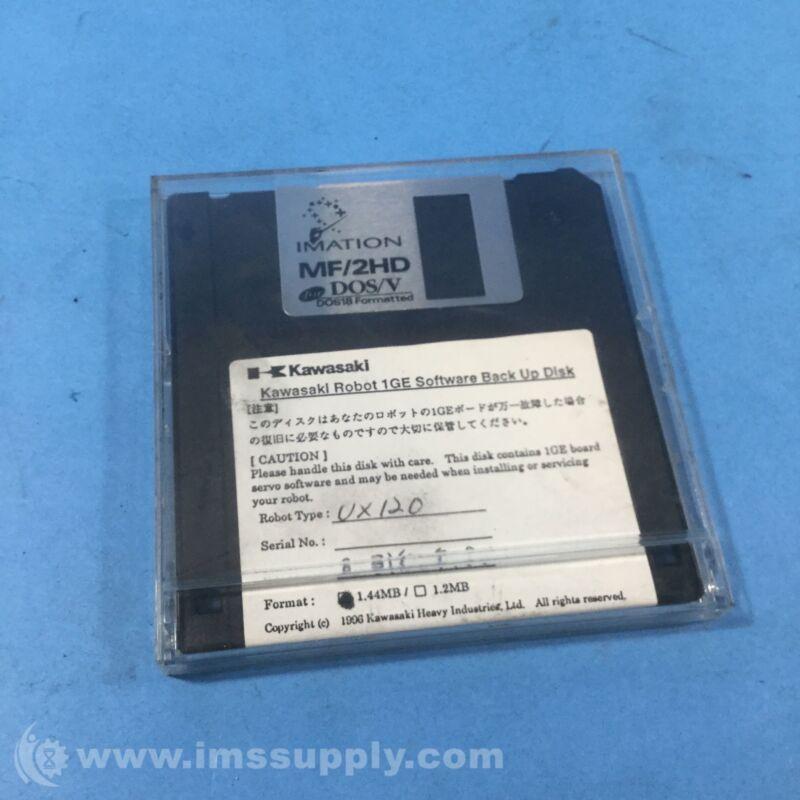 Kawasaki 1GE Software Backup Disk, Robot Type UX120 USIP
