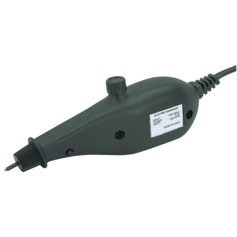 Electric Hand Engraver W/ Carbide Tip Engraves Metal, Glass, Wood, PVC, Plastic!