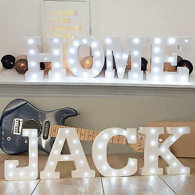 Alphabet Initial Wood LED Lamp Home Interior Birthday Wedding Party Decorations