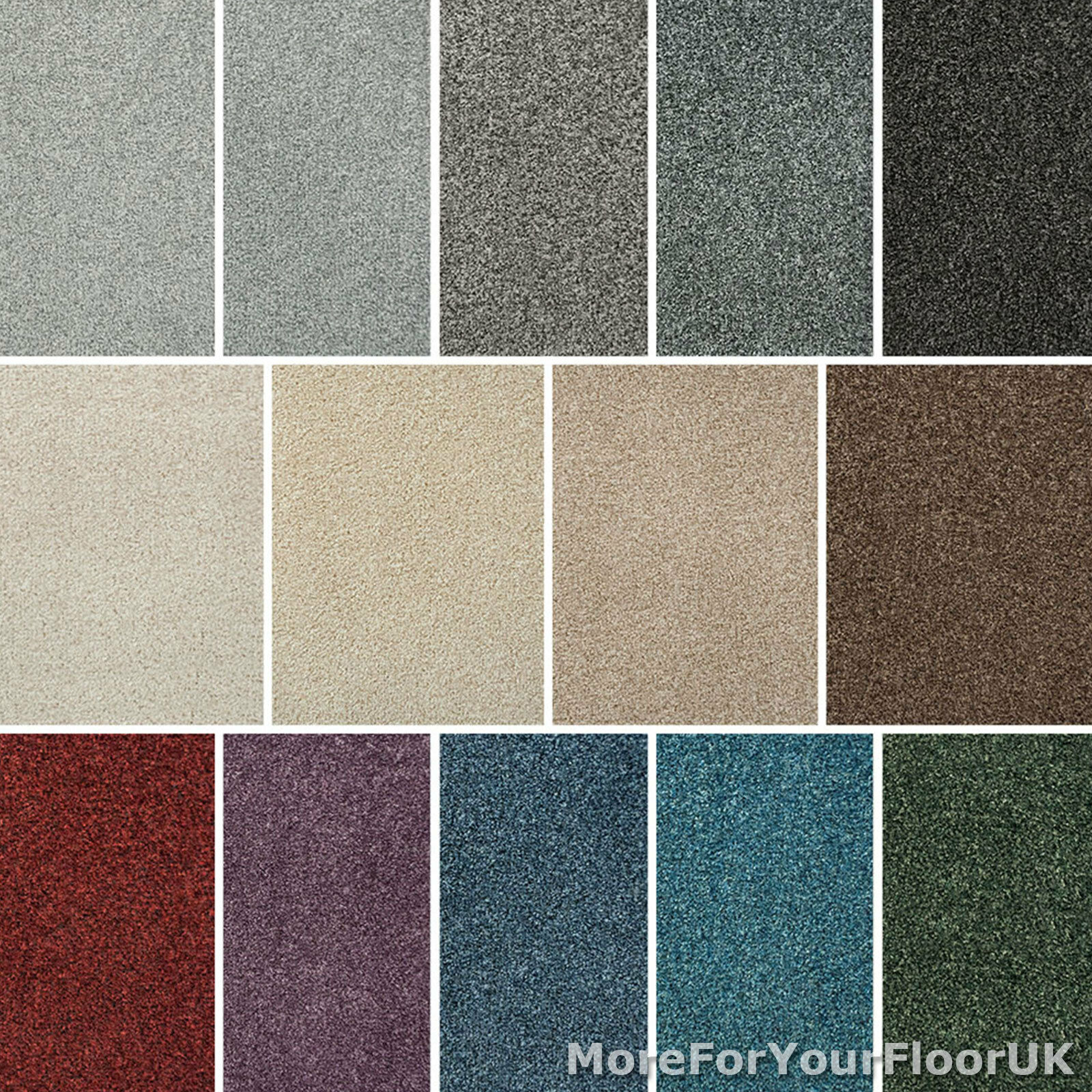 Liberty Heathers Carpet Stain Resistant Felt Backing 4m Wide Twist Pile CHEAPEST