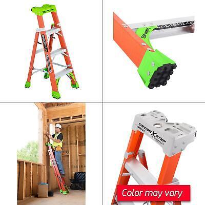 4 Ft. Fiberglass Cross Step Ladder With 300 Lb. Load Capacity Type Ia Duty