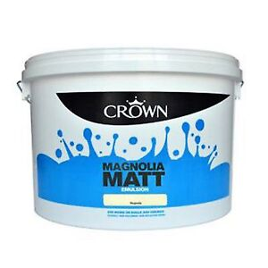 Crown Matt Emulsion Magnolia Wall & Ceiling Paint Non-Breatheasy 7.5L