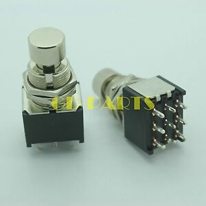 3pdt 9pin push button foot switch fr diy guitar effect pedal stomp true bypass 1 ebay. Black Bedroom Furniture Sets. Home Design Ideas