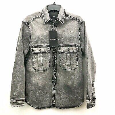 Zara Man Denimwear Men's Heavy Grey Denim Jean Shirt Jacket  Size MEDIUM  NWT