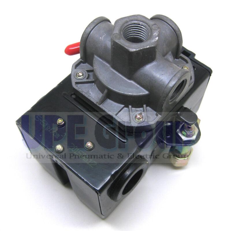 NEW PRESSURE CONTROL SWITCH VALVE FOR AIR COMPRESSOR 95-125 4PORT W/ UNLOADER