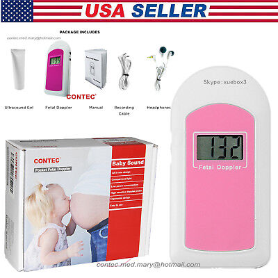 Pocket Fetal Dopplerprenatal Heart Monitor Baby Heart Beat Baby Soundgel Fda