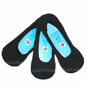 Hombre-Invisible-Zapatillas-calcetines-de-deporte-Disponible-en-blanco-o-negro