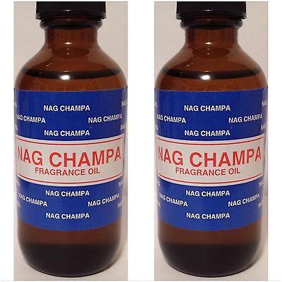 2X NAG CHAMPA ~ PREMIUM FRAGRANCE HOME BURNER ESSENTIAL OIL 60ML/2OZ BIG -