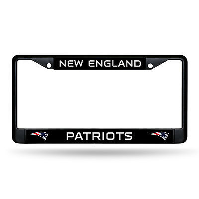 New England Patriots Authentic Metal BLACK License Plate Frame Auto Truck Car  - New England Patriots Plates