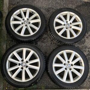 4 Mags OEM Volkswagen 17'' 5x112 + nokian haka 235-45-17