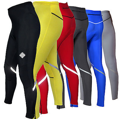 SHADOW WINTER MENS CYCLING TIGHTS cycle padded thermal tights compression (AA)