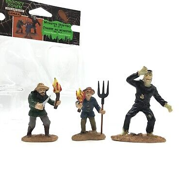 Halloween Town Monster (Lemax Spooky Town MONSTER HUNTING Set of 3 Halloween Village Accessory)