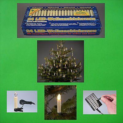 LED Navidad Velas Cadena de Luces Exterior Abetos Árbol Decoración Nuevo