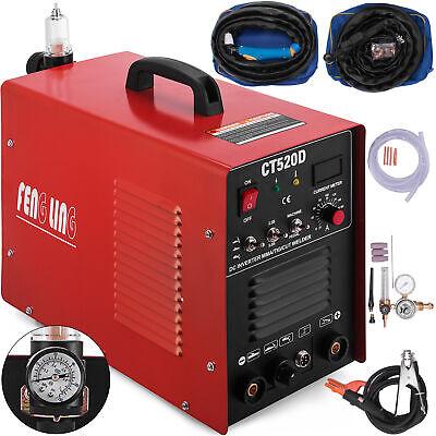 Ct520d Plasma Cutter Tig Arcstick 3-in-1 Welder 50a200a 110220v Dual Voltage