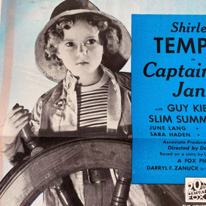 Vintage Captain January Movie Trade Ad Shirley Temple 1936 Advertising