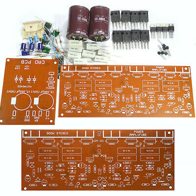 Diy Transistor Stereo Power Amplifier Kit 300w Tip3055 Mj2955 Pcb Components