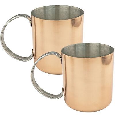 Set of 2 Copper Moscow Mule Mug Stainless Steel Lining Copper Mule Mugs Dinnerware & Serveware