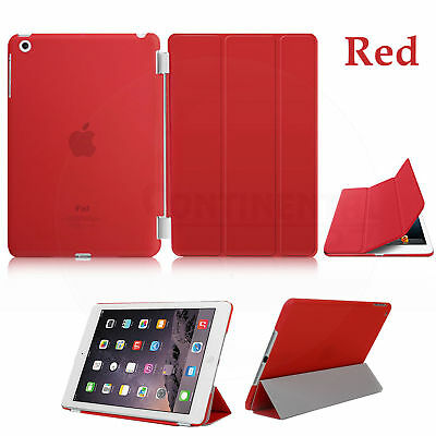 Original Apple Ipad 2,3&4 Smart Cover Leather Red MD304ZM/A New Sealed