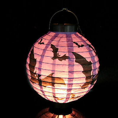 Diy Halloween Decorations Scary (1pc Purple New Halloween LED Paper Pumpkin Lantern DIY Holiday Party Decor)