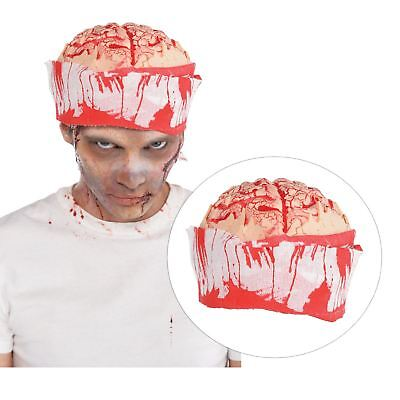Halloween SFX Zombie Brain Hat with Bandage Head Wrap Accessory Surgery Gore