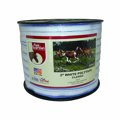 Field Guardian 2 White Polytape Classic Electric Fence 636812 814421010292