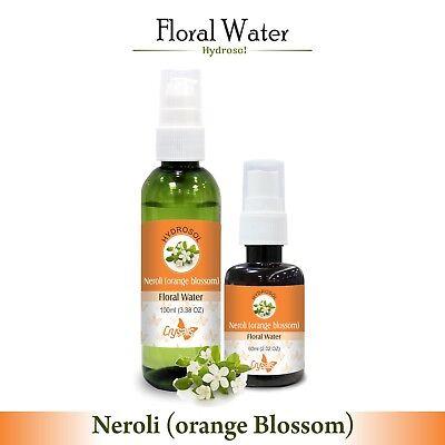Neroli (Orange Blossom) Hydrosol (Floral Water) 60ml / 100ml Pure And Natural -