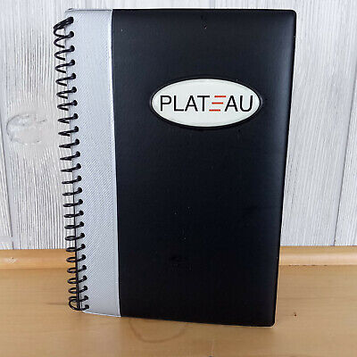 Used 1x Leeds 5 X 8.5 Plateau Black Gray Leather Personal Jotter Note Book Pad