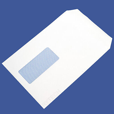 50 White C5 / A5 Window Self Seal Envelopes 90GSM Postal Letter Mail Quality
