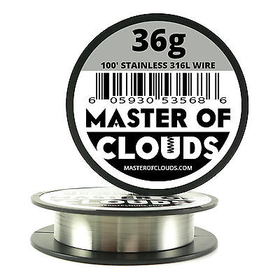 Ss 316l - 100 Ft. 36 Gauge Awg Stainless Steel Resistance Wire 0.127mm 36g 100