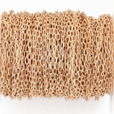 1 yard LIGHT Gold Cable Chain, Oval Links are 2.5mm fch0904a