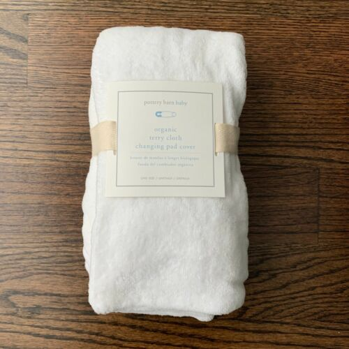 Pottery Barn Baby White Terry Cloth Changing Pad Cover Organic Cotton NWT