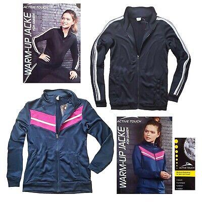 Warm Up Sportjacke Damen Fitnessjacke Joggingjacke Trikot Trainingsjacke