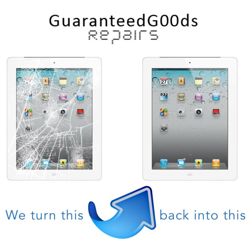 Apple Ipad 2 Oem Cracked Glass Screen Digitizer Replacement Repair Service