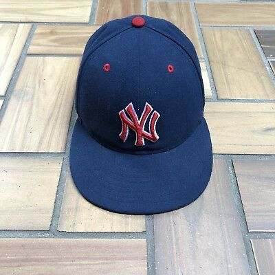 46d88e7a New Era 59Fifty New York Yankees Fitted Hat Cap / Navy Red White Stars /  Size 7