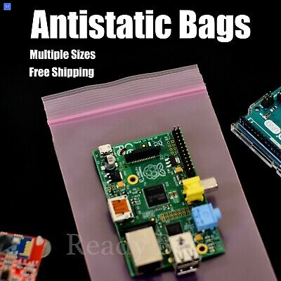 Pink Antistatic 4mil Plastic Bags Heavy-duty Zipper Seal Reclosable Zip Top Bags