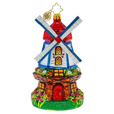 [NEW Christopher Radko CATCHING A BREEZE WINDMILL Christmas Ornament 1020521</Title]
