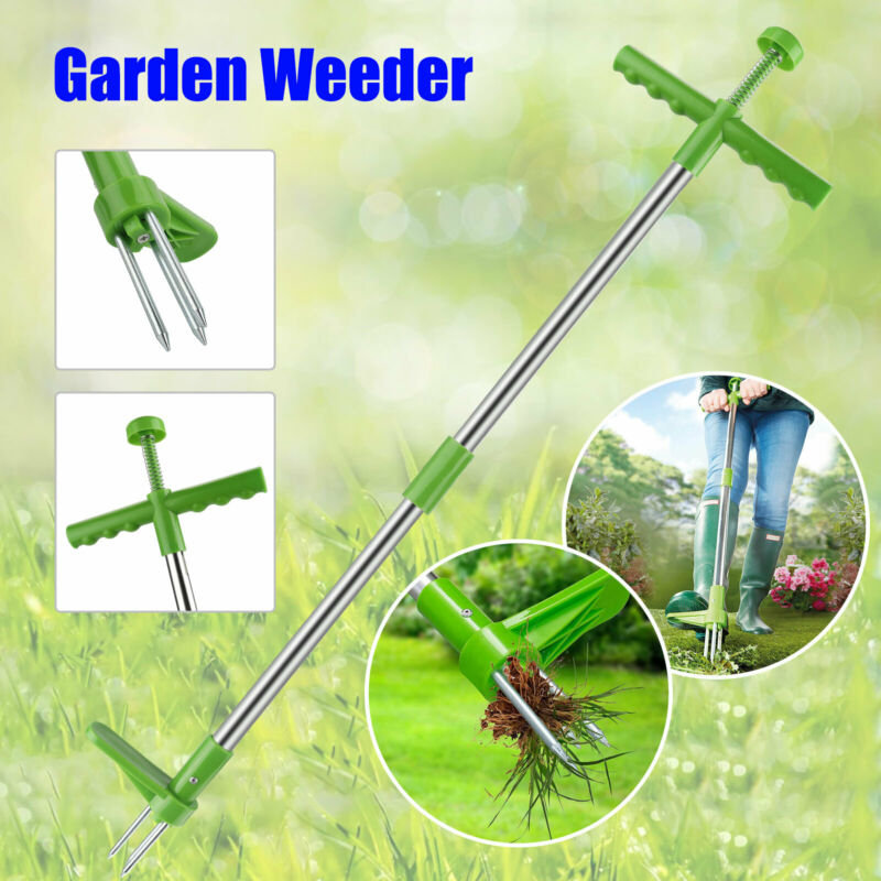 Weed Puller Weeder Twister Twist Pull Garden Lawn Root Killer Remover Hand Tool