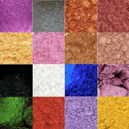 Mica Powder Pigments Matte or Pearl Shimmer Sample Set or 1 oz 4 oz Per Color