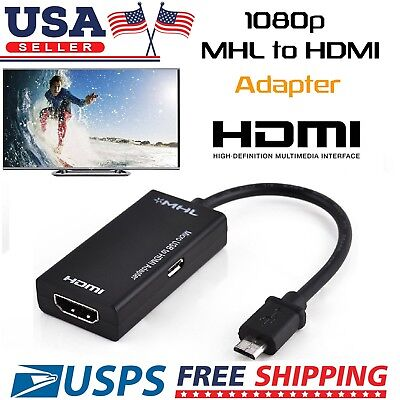 MHL Micro USB Male to HDMI Female Adapter Cable for Android Cell Phone Tablet TV ()